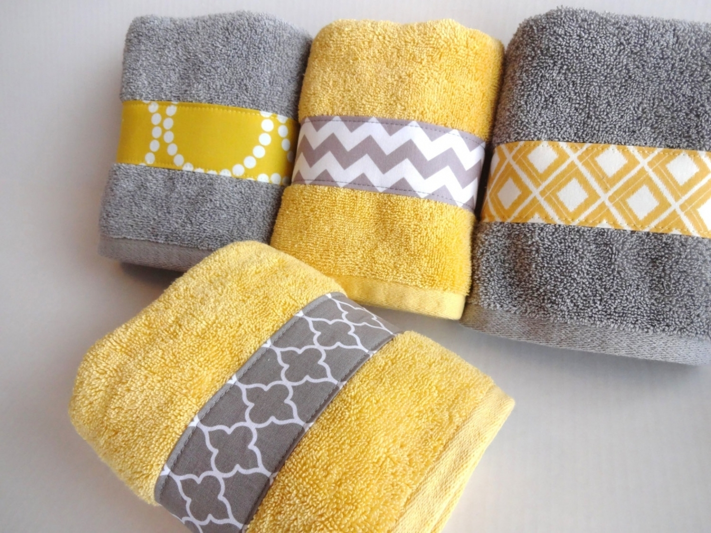 Gray And Yellow Bathroom Rug Sets