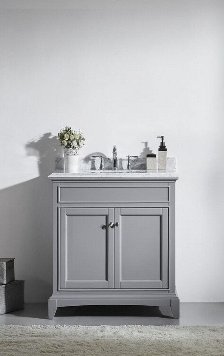 Gray Bathroom Vanity 30 Inch