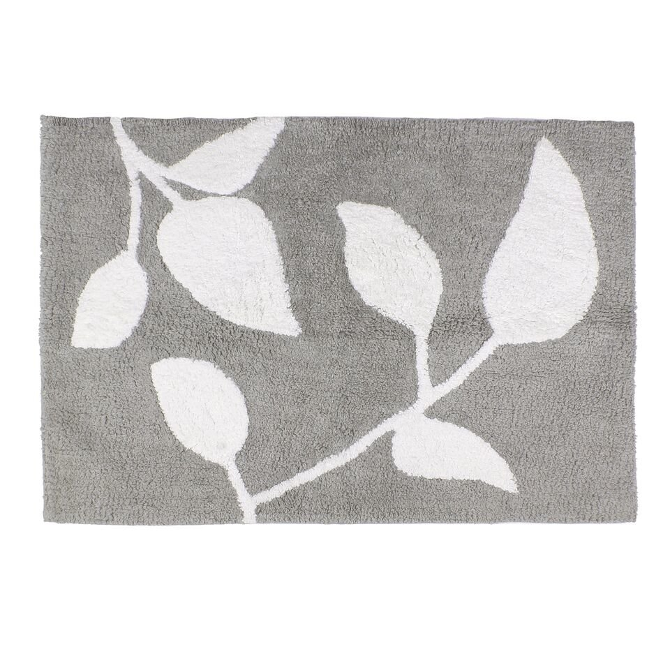 Permalink to Grey And White Trellis Bath Rug
