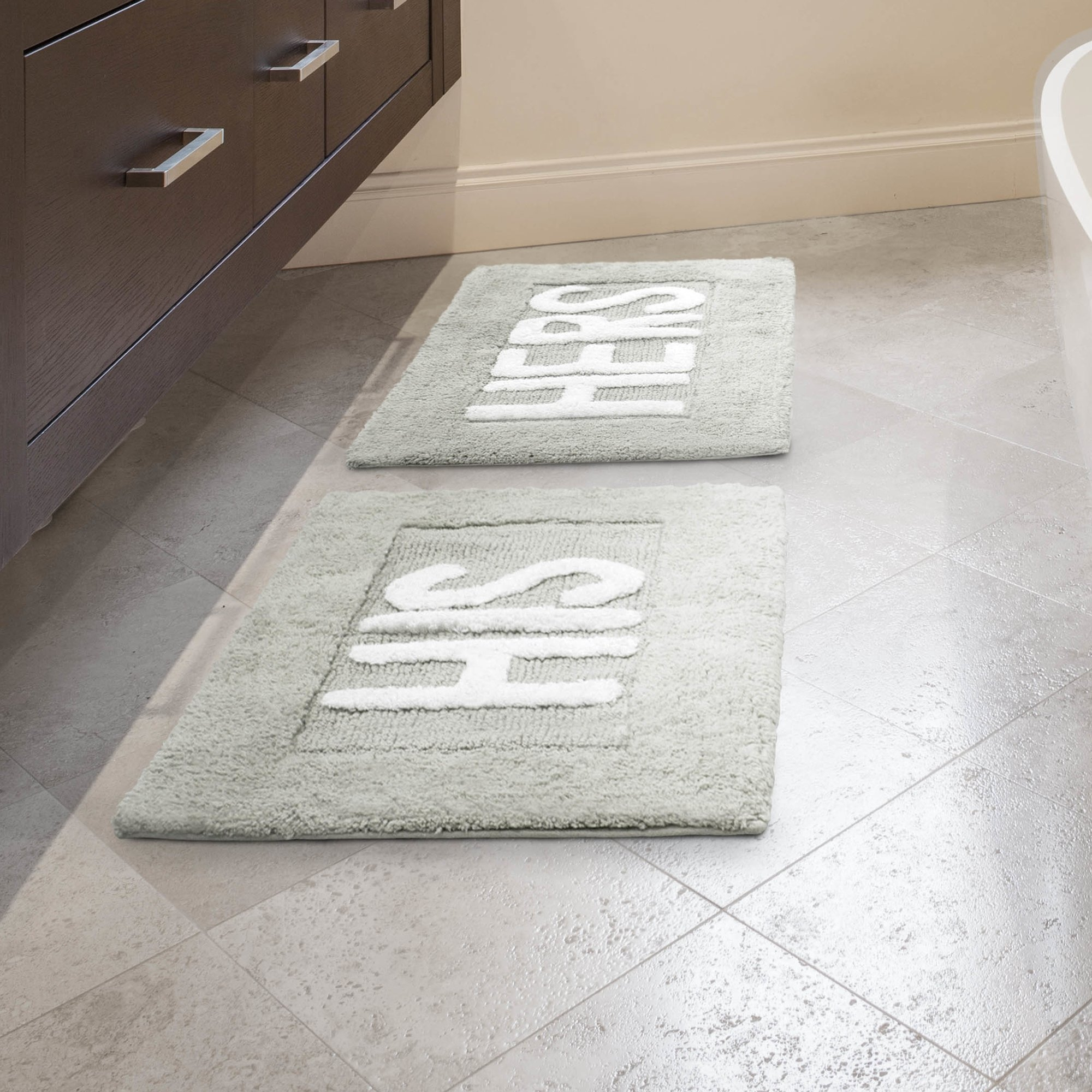 His And Hers Bathroom Rugsjean pierre his and hers cotton 2 piece bath rug set reviews