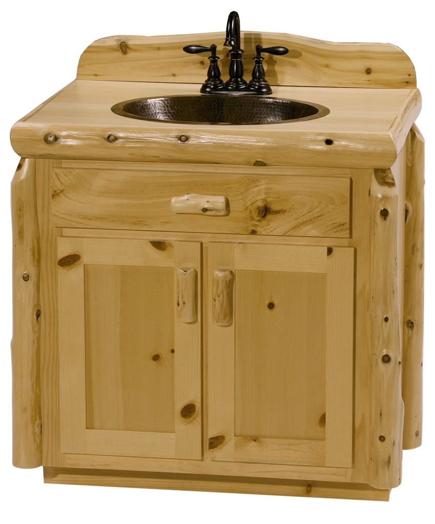 Knotty Pine Bathroom Vanity