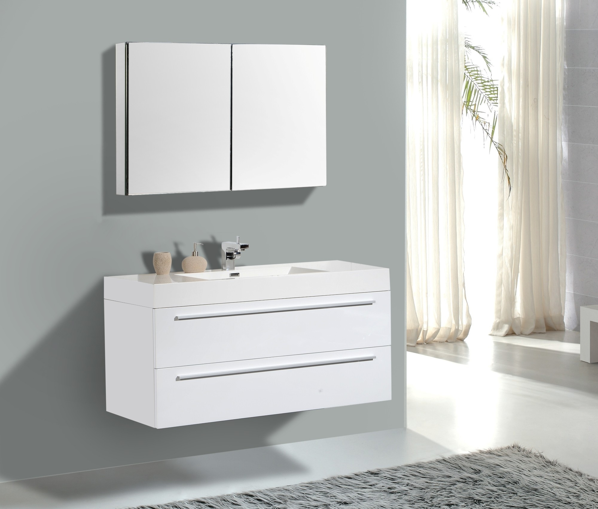 Modern White Vanities For Bathrooms