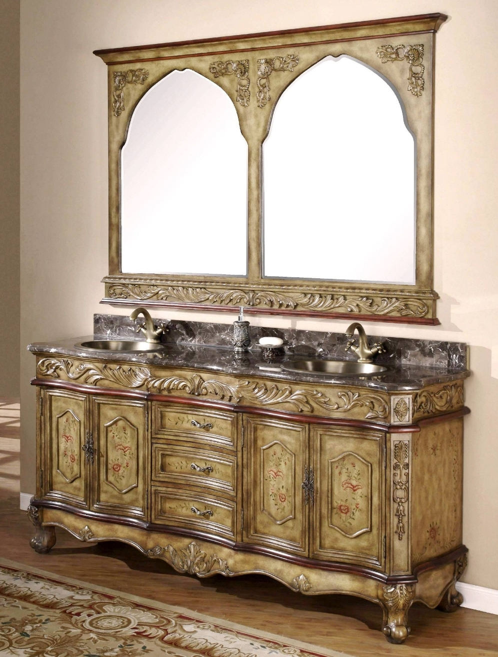 Old World Style Bathroom Vanity