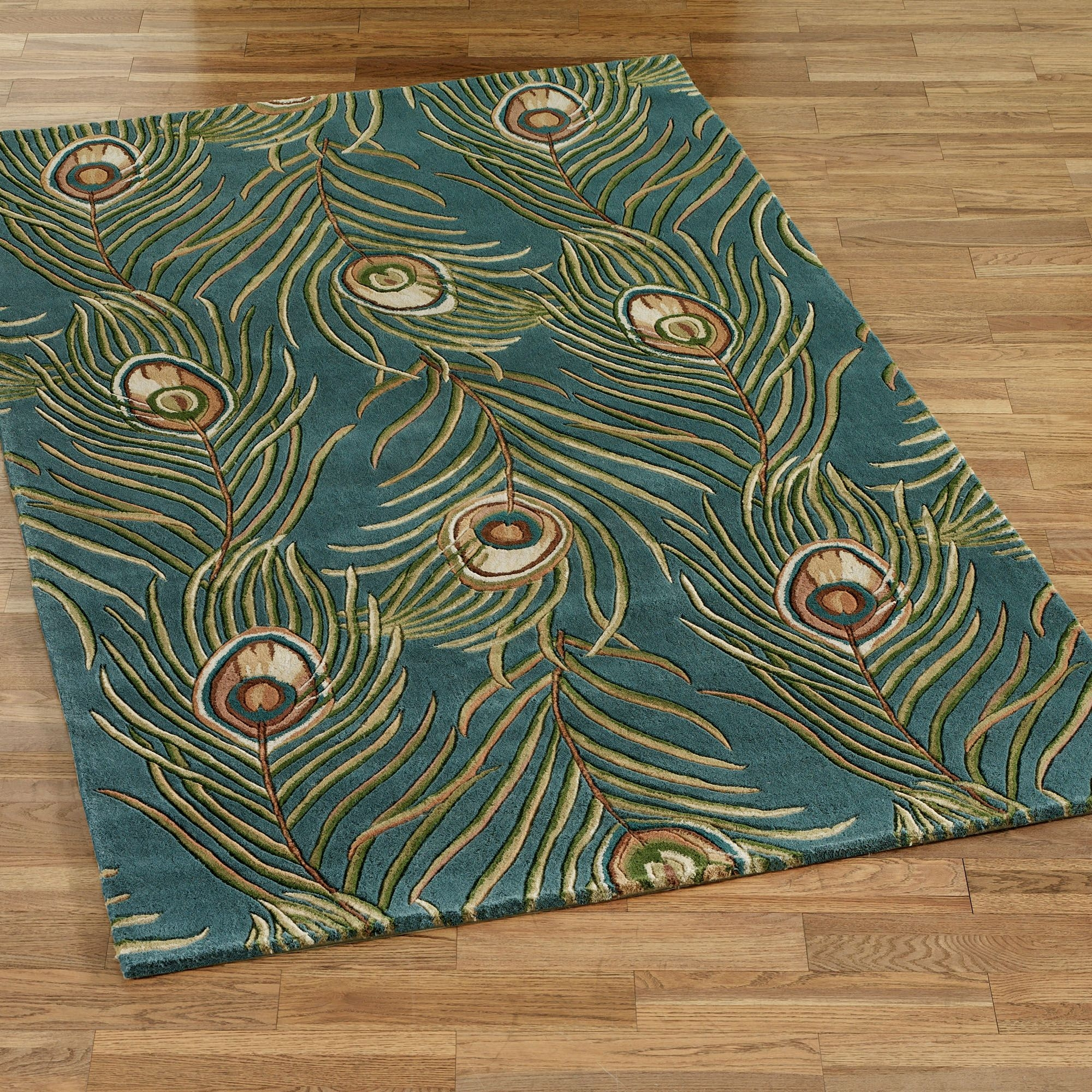 Peacock Color Bath Rugs