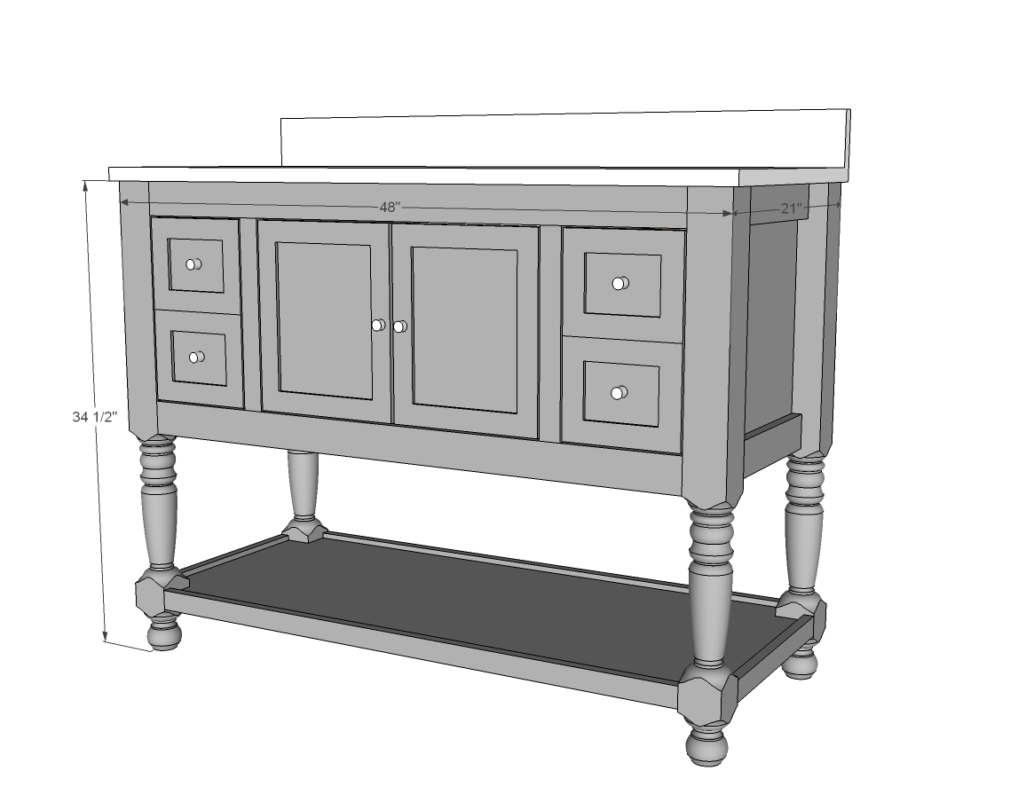 Plans For A 48 Bathroom Vanity