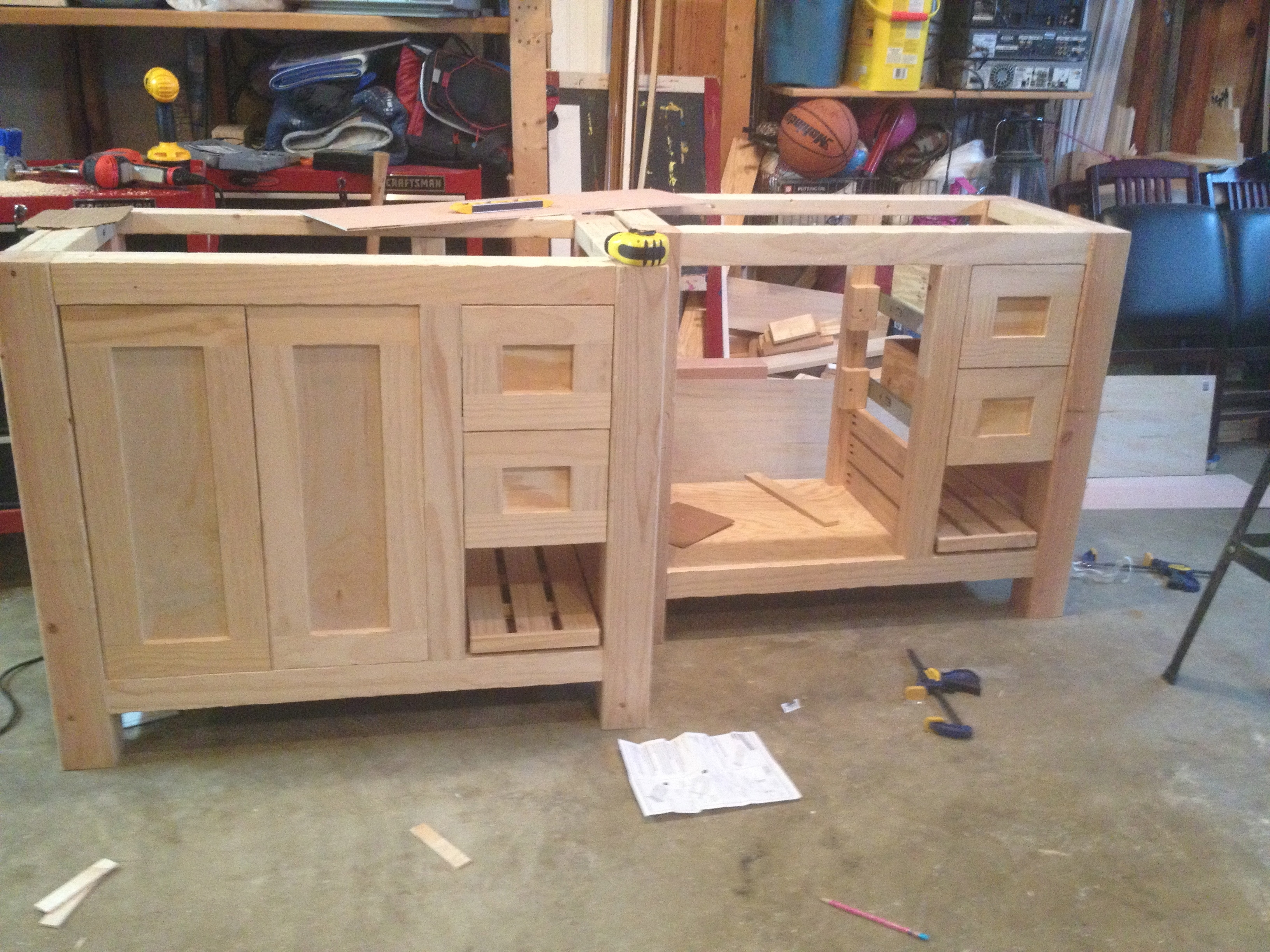 Plans For A Bathroom Vanity