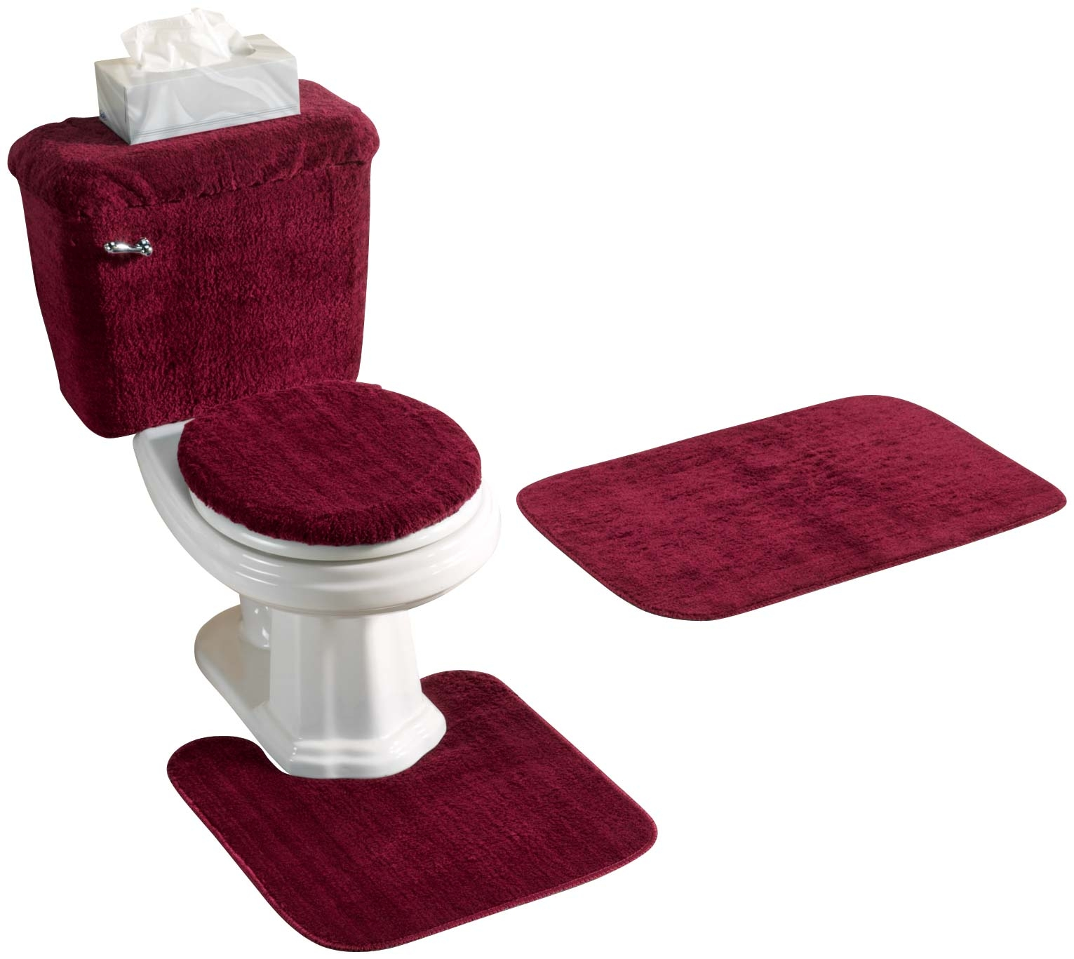 Permalink to Red 5 Piece Bathroom Rug Set