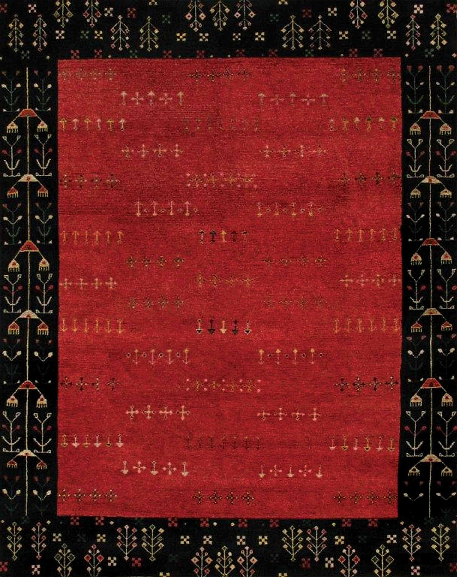 Red And Black Bathroom Rugs