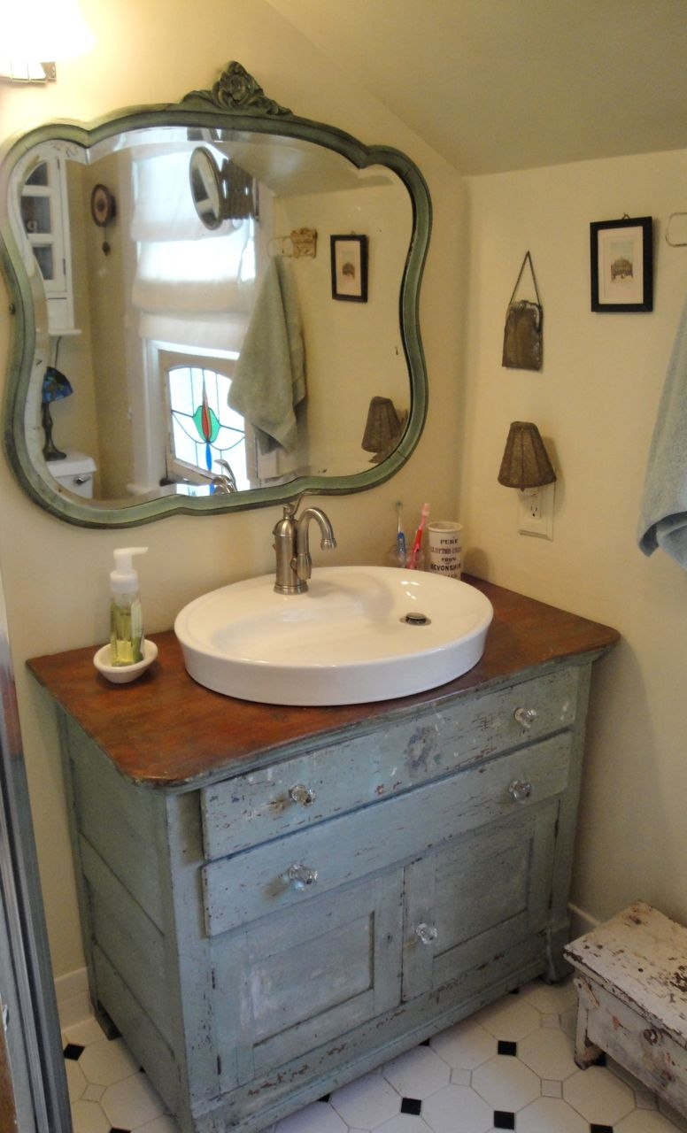 Repurpose Dresser Bathroom Vanity