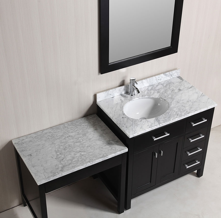Single Bathroom Vanity With Makeup Table
