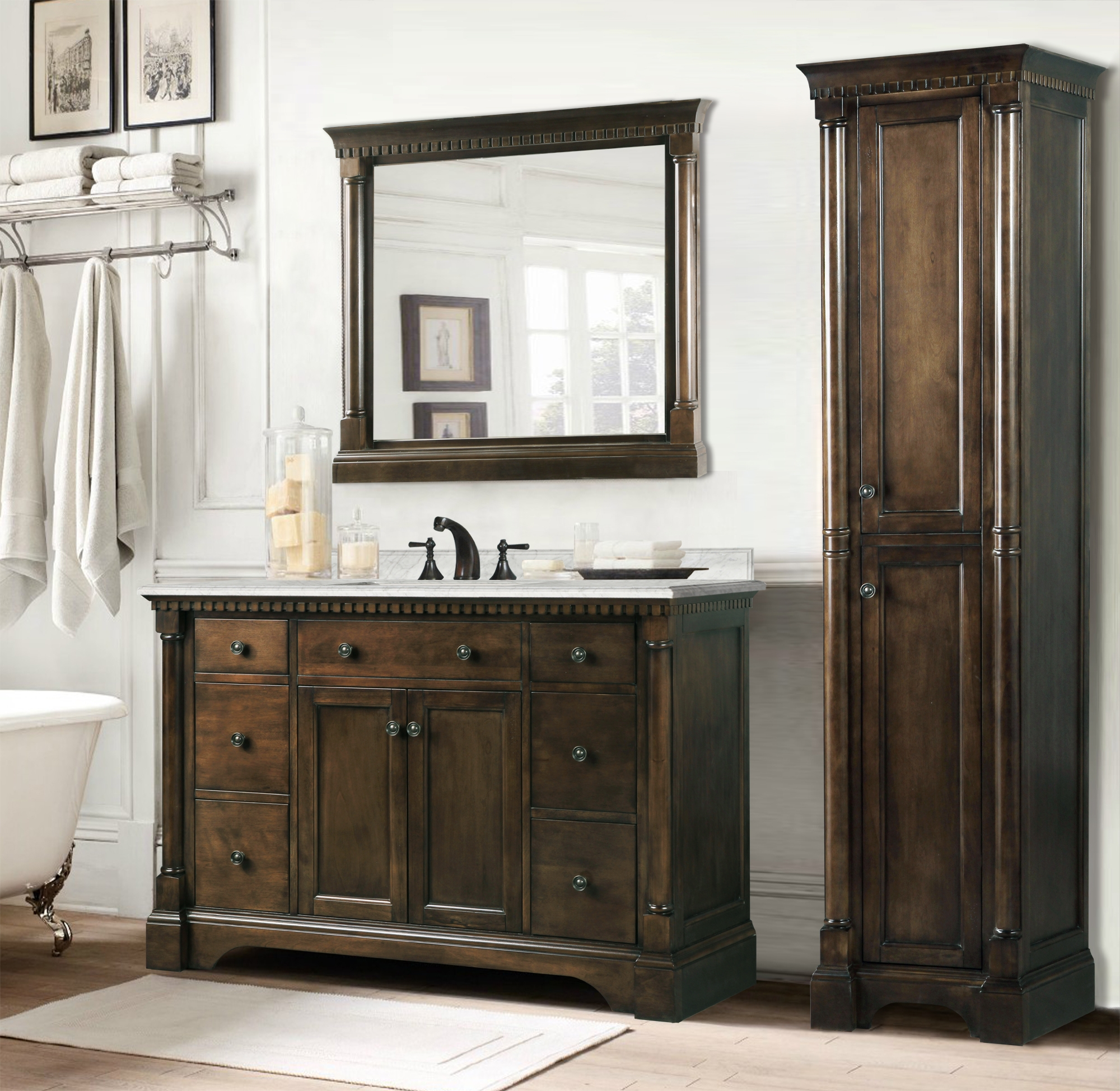 Single Bathroom Vanity Without Sink