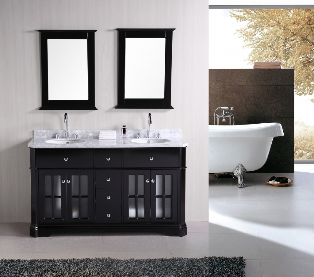 Small 2 Sink Bathroom Vanity