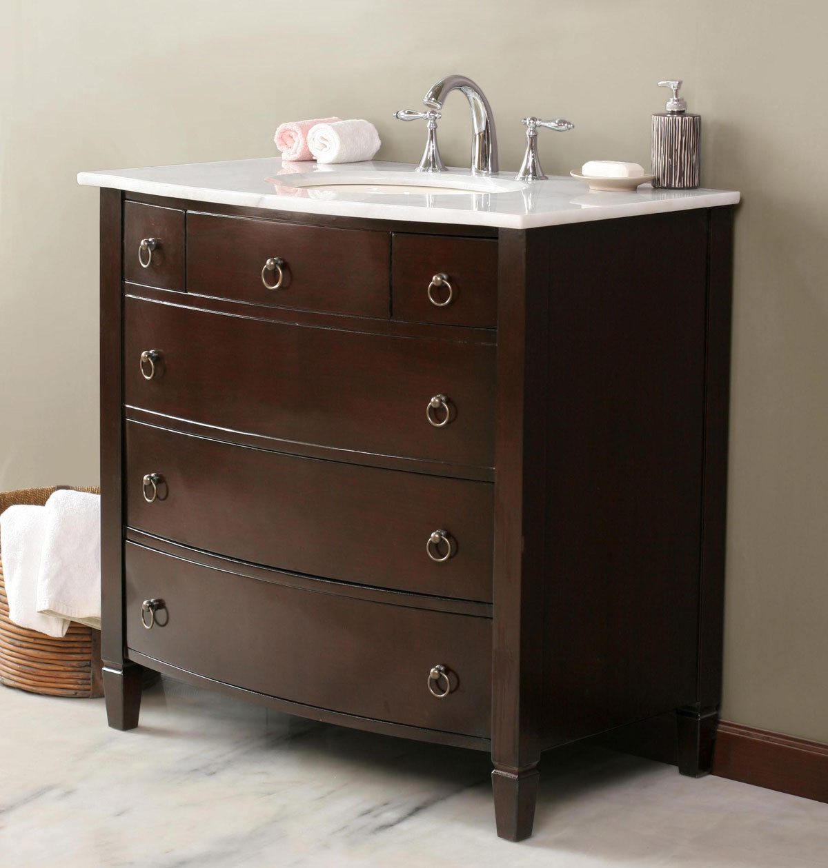 Small Bath Vanity With Drawers