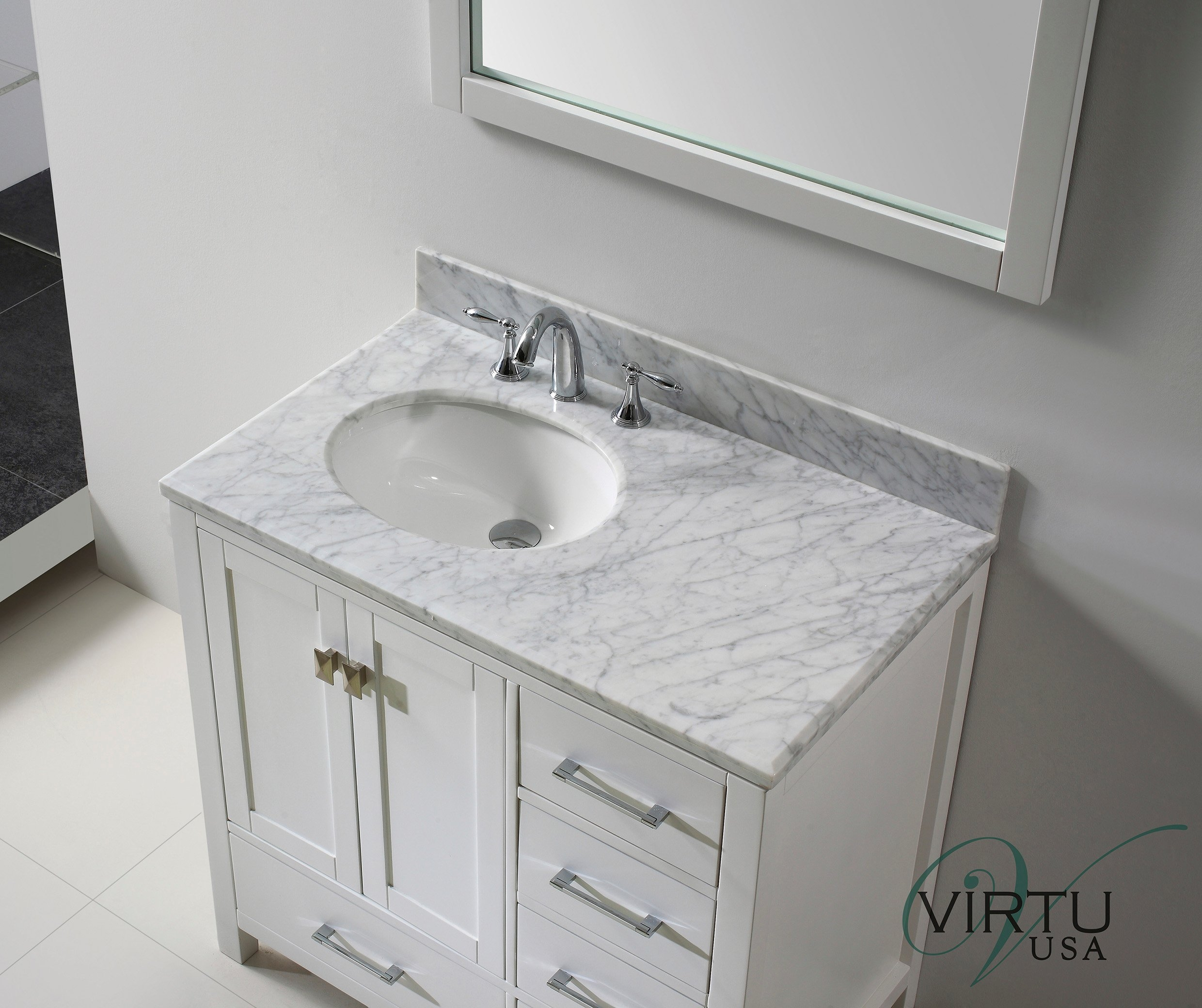Small Bath Vanity With Top