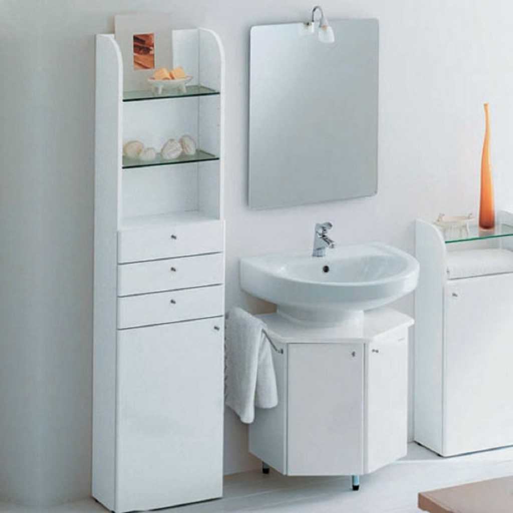 Permalink to Small Bathroom Cabinets Storage