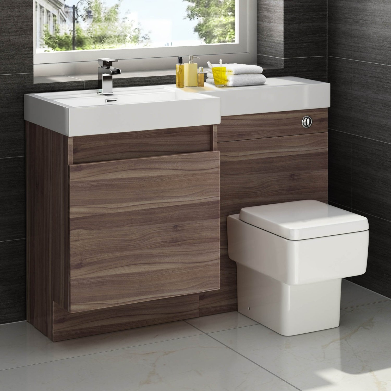 Square Bathroom Sink And Vanity Unit