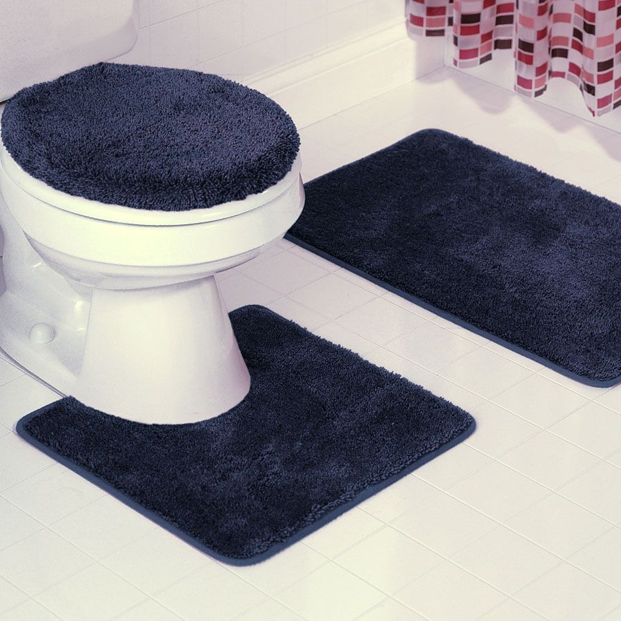 Three Piece Bathroom Mat Sets