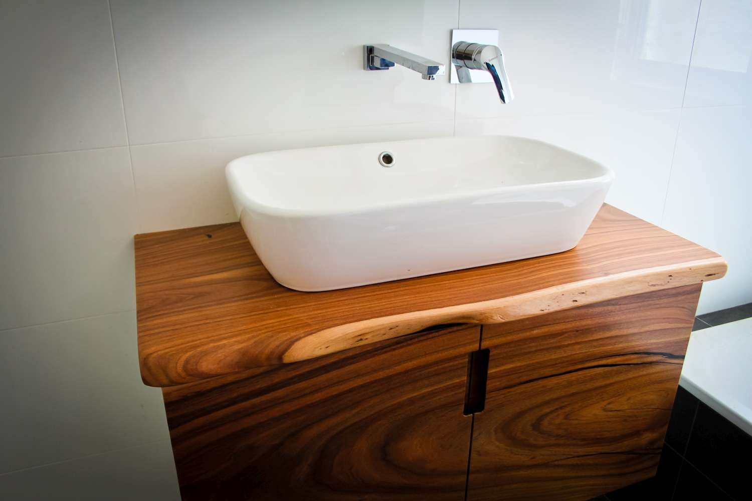 Timber Bathroom Vanity Units