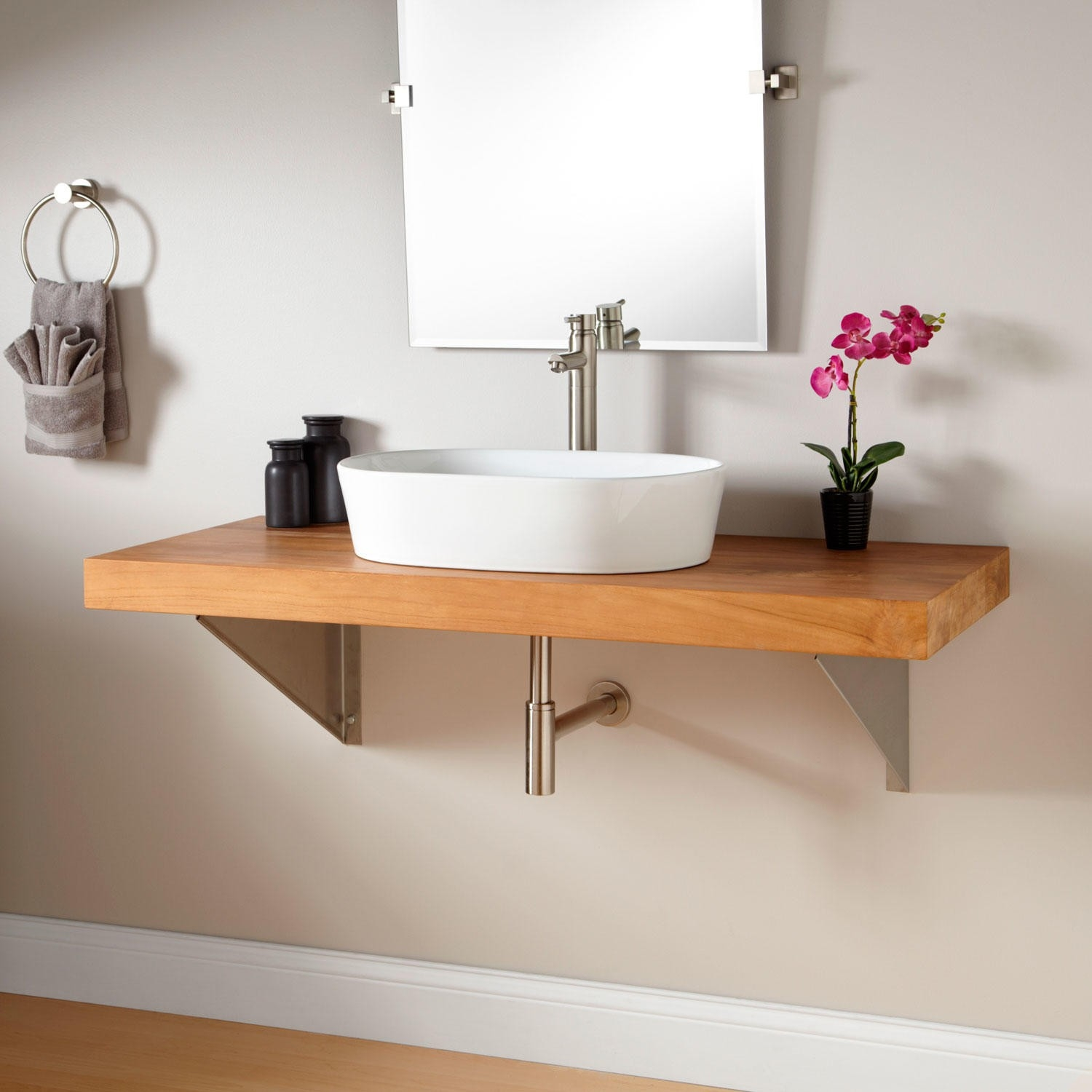 Wall Mount Bathroom Vanities Vessel Sink