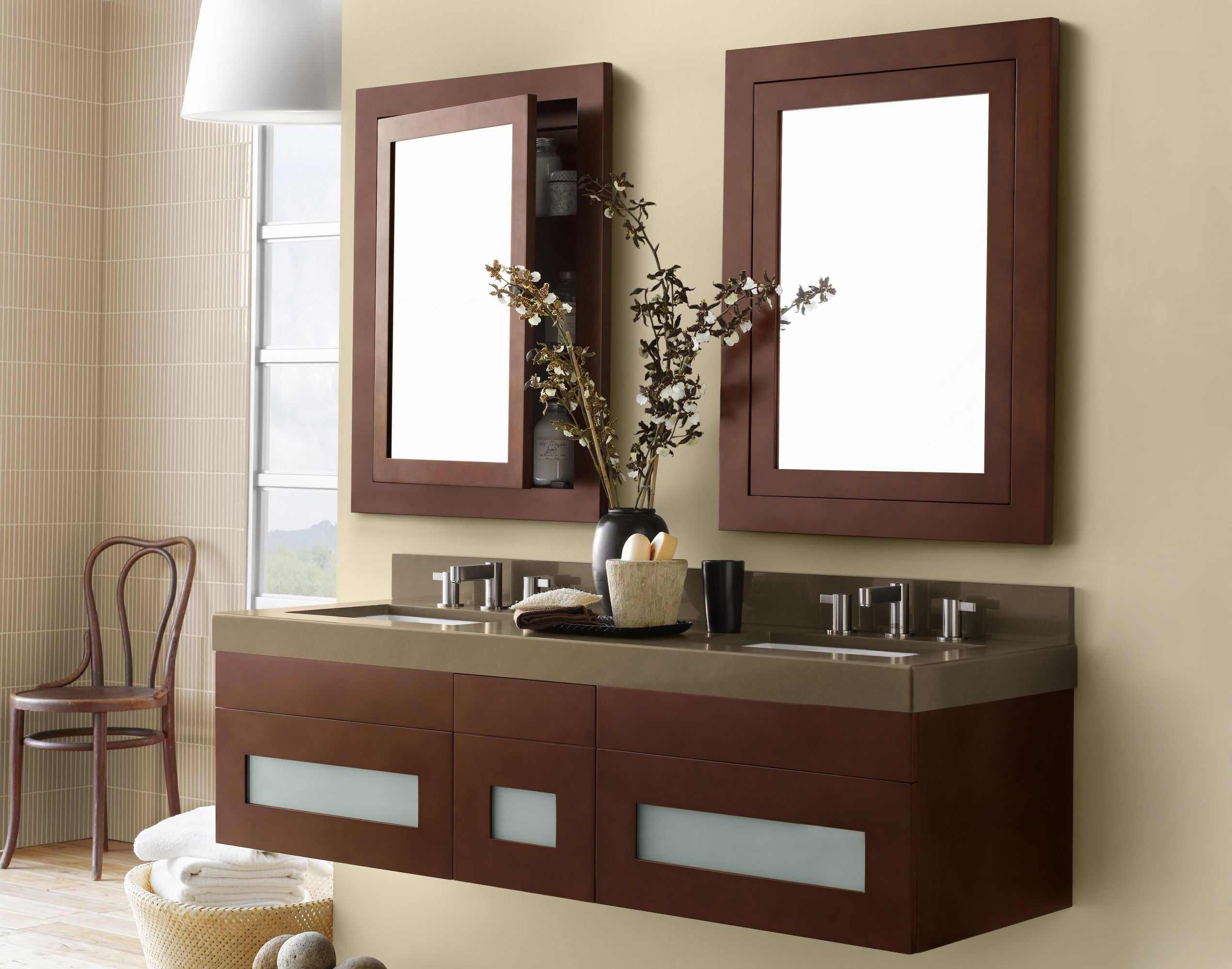Wall Mounted Bathroom Vanity Cabinet Only