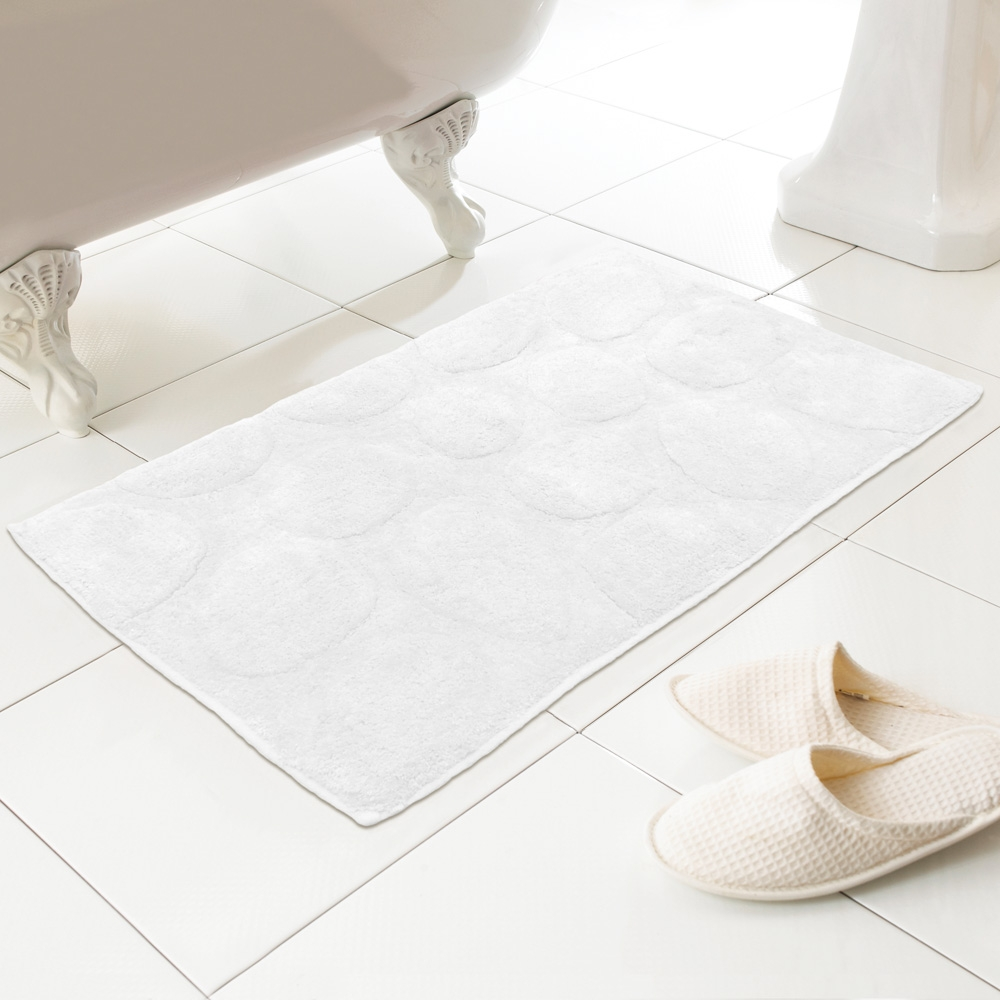 White Bath Rugs Cottonpebbles 100 cotton textured washable bath mat rug in white grape