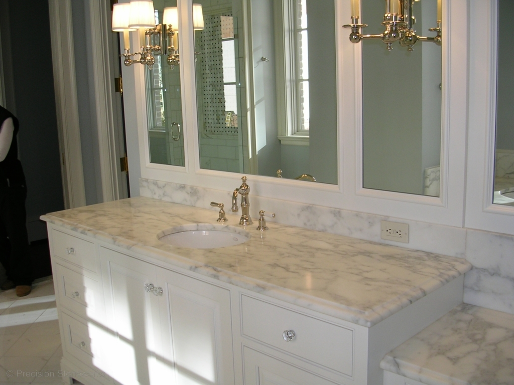 White Bathroom Cabinets With Granite Countertops