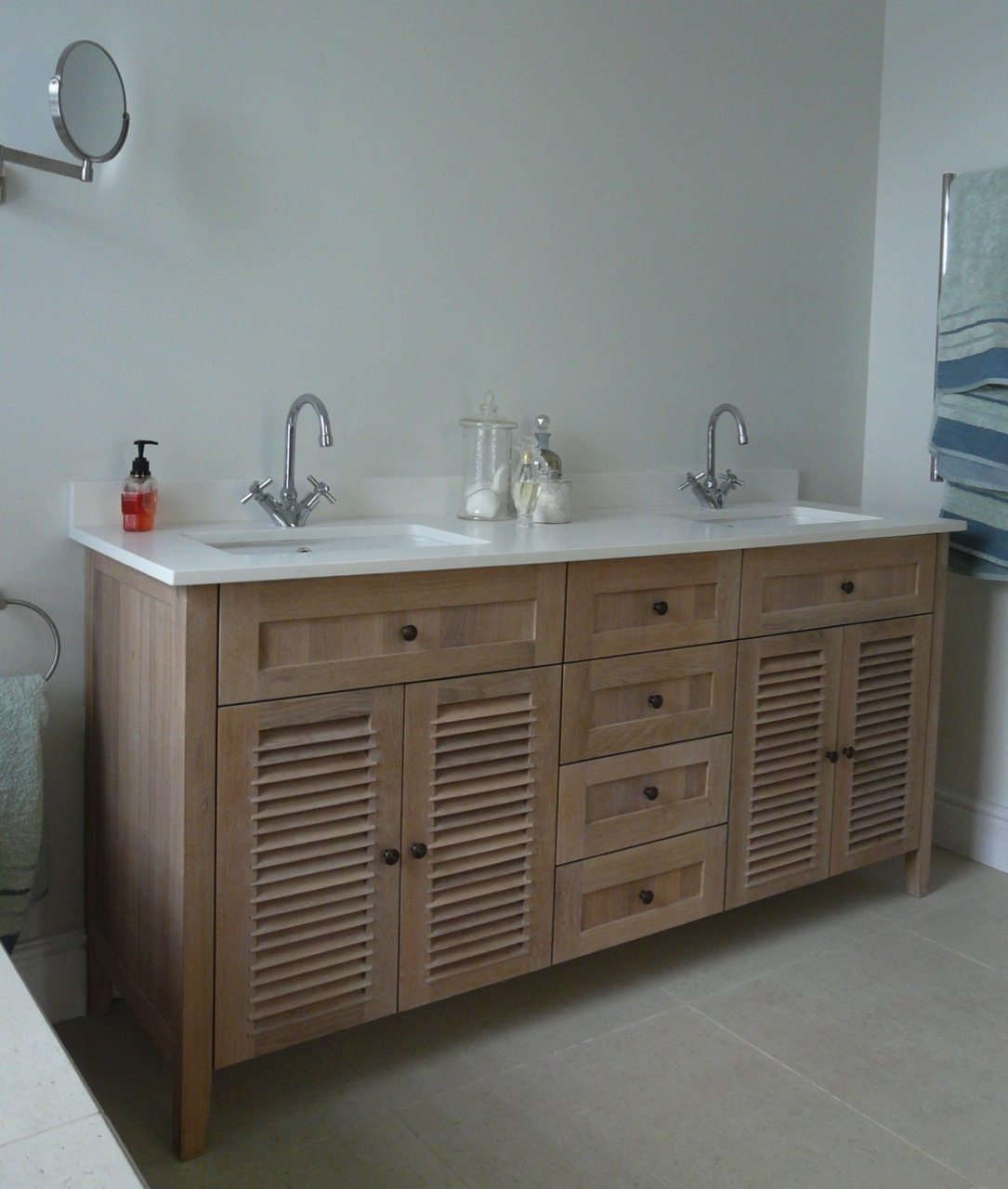 White Washed Oak Bathroom Vanity