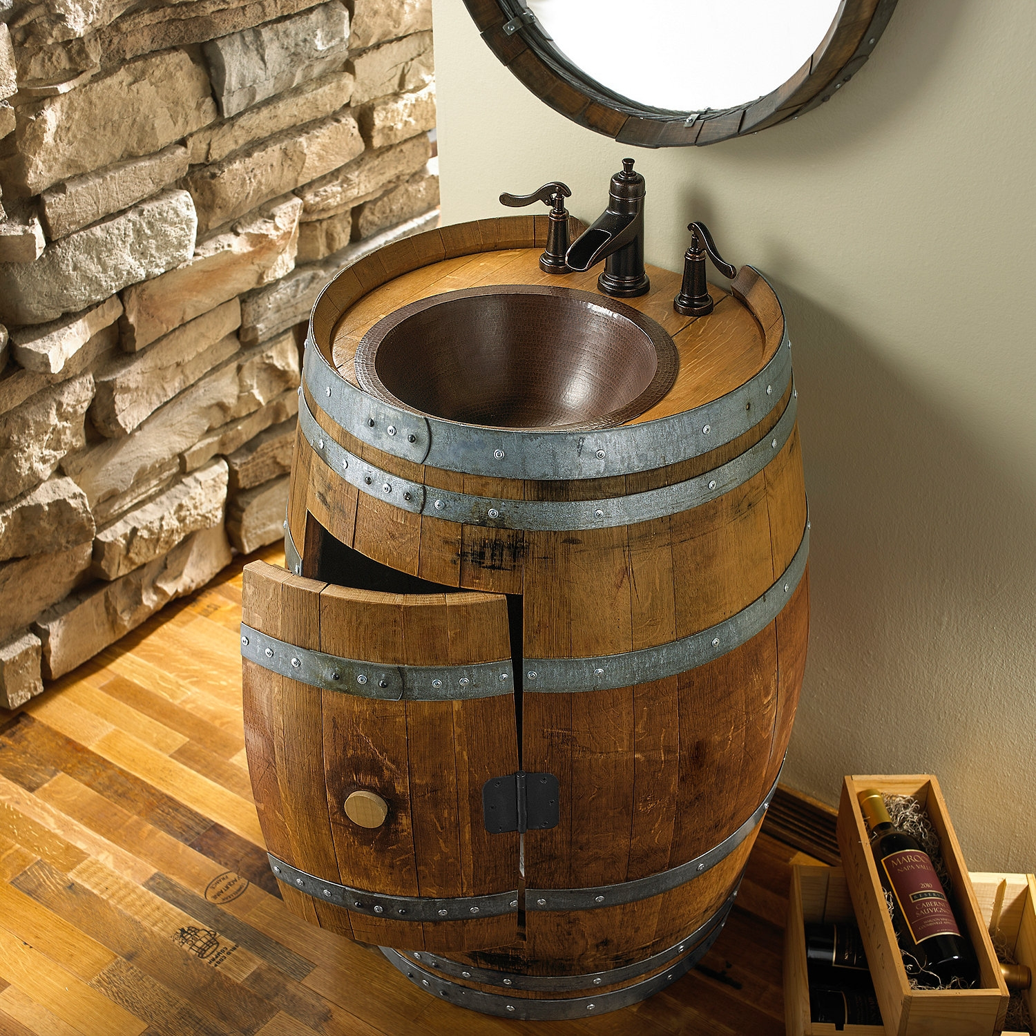 Wine Barrel Bath Vanity