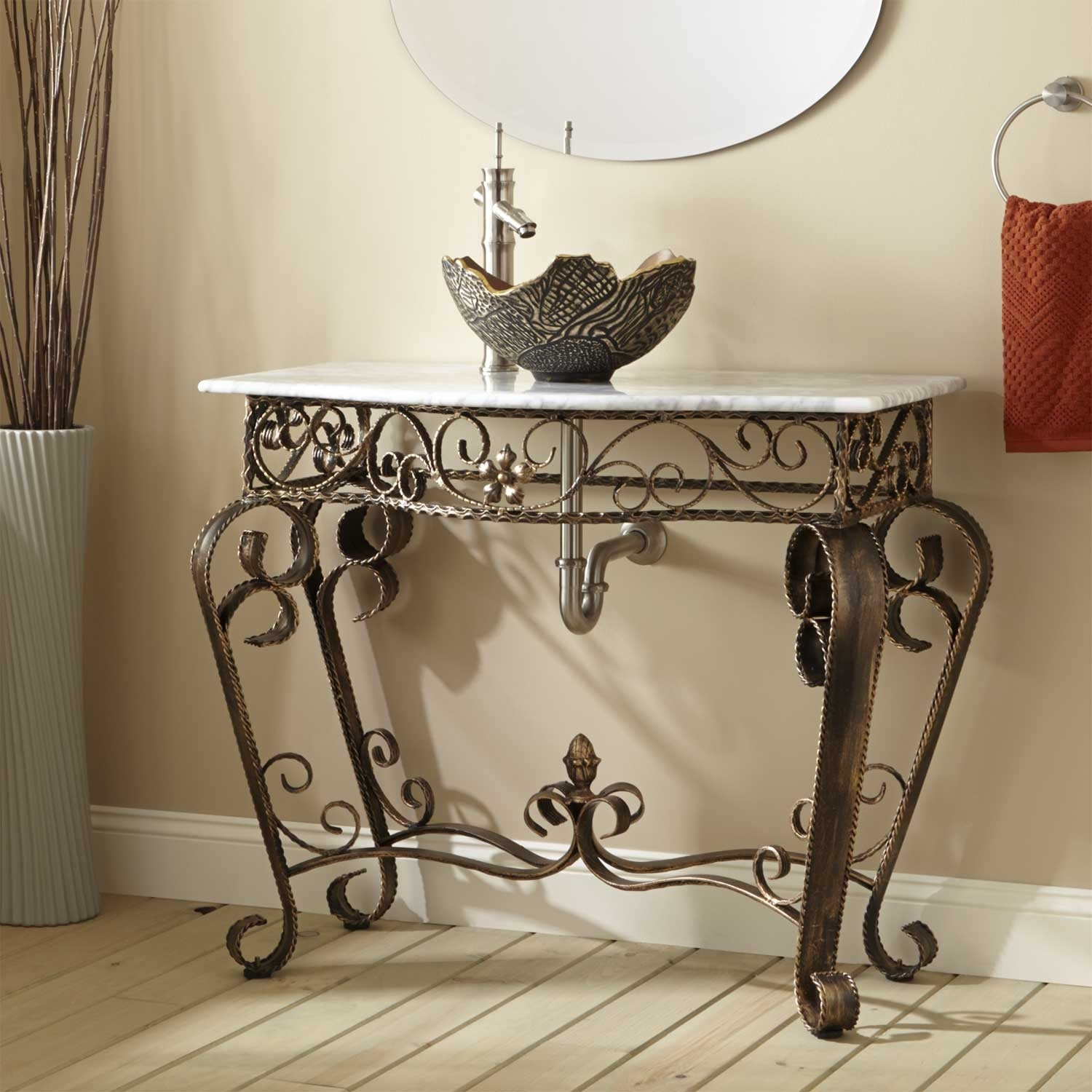 Genial Wrought Iron Bathroom Vanity Stand1500 X 1500