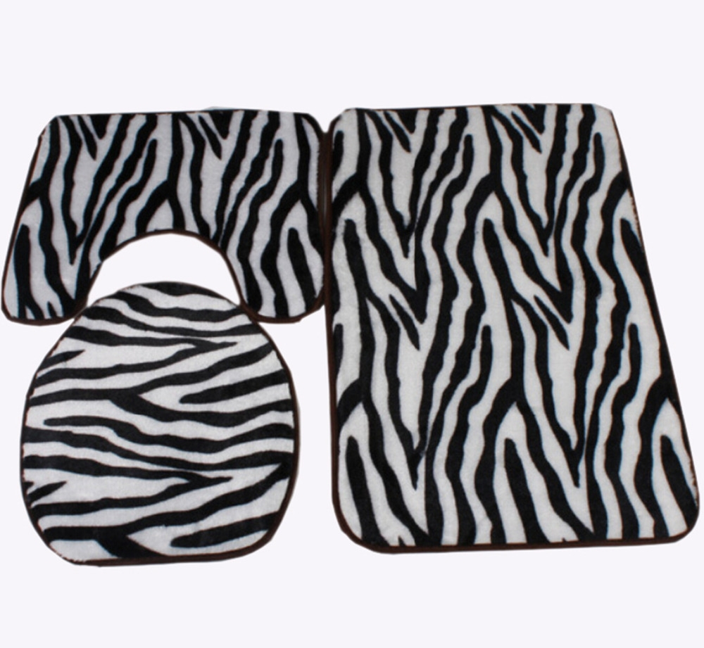 Permalink to Zebra Print Bathroom Rugs