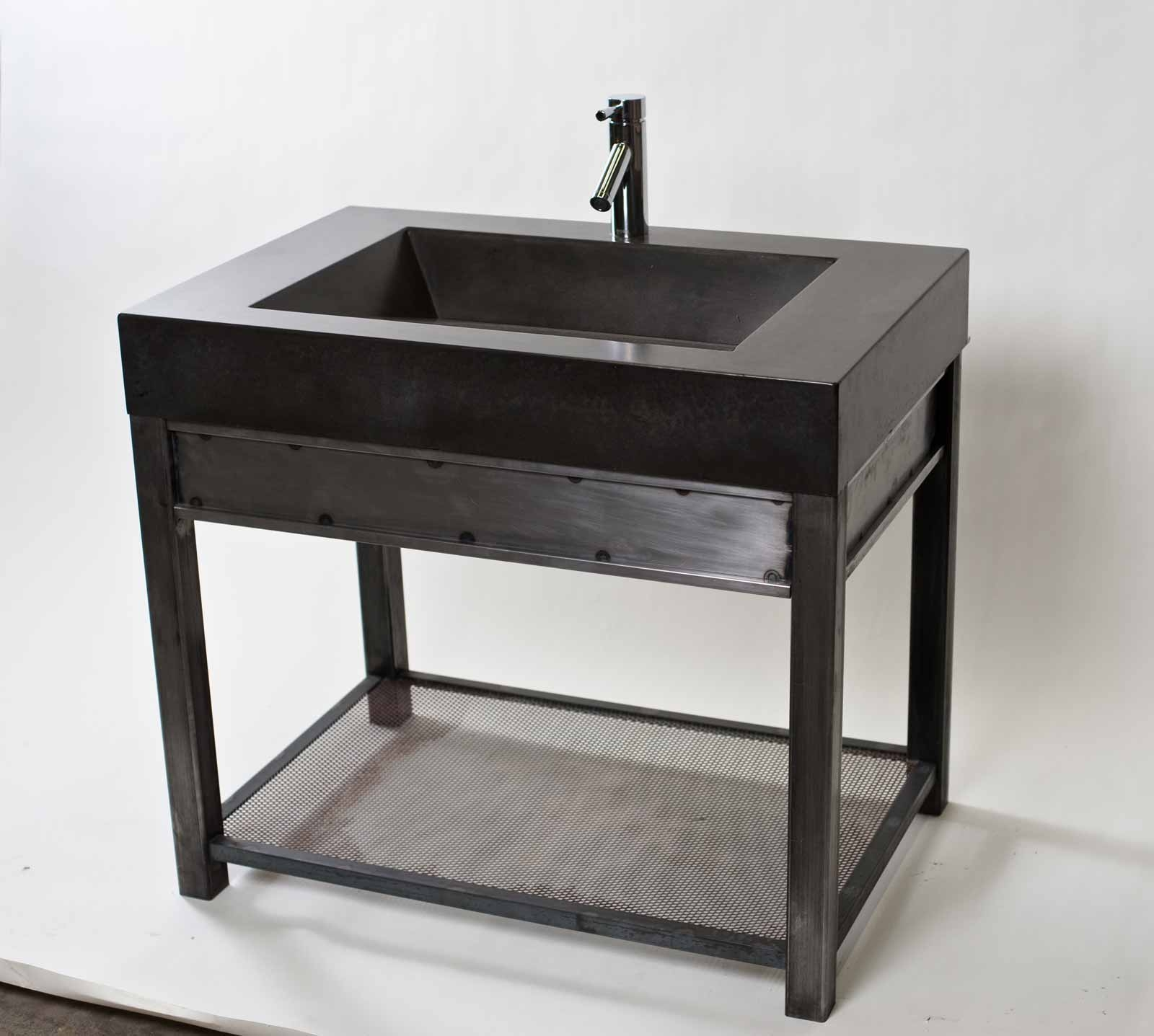 Permalink to Bathroom Vanity With Metal Legs