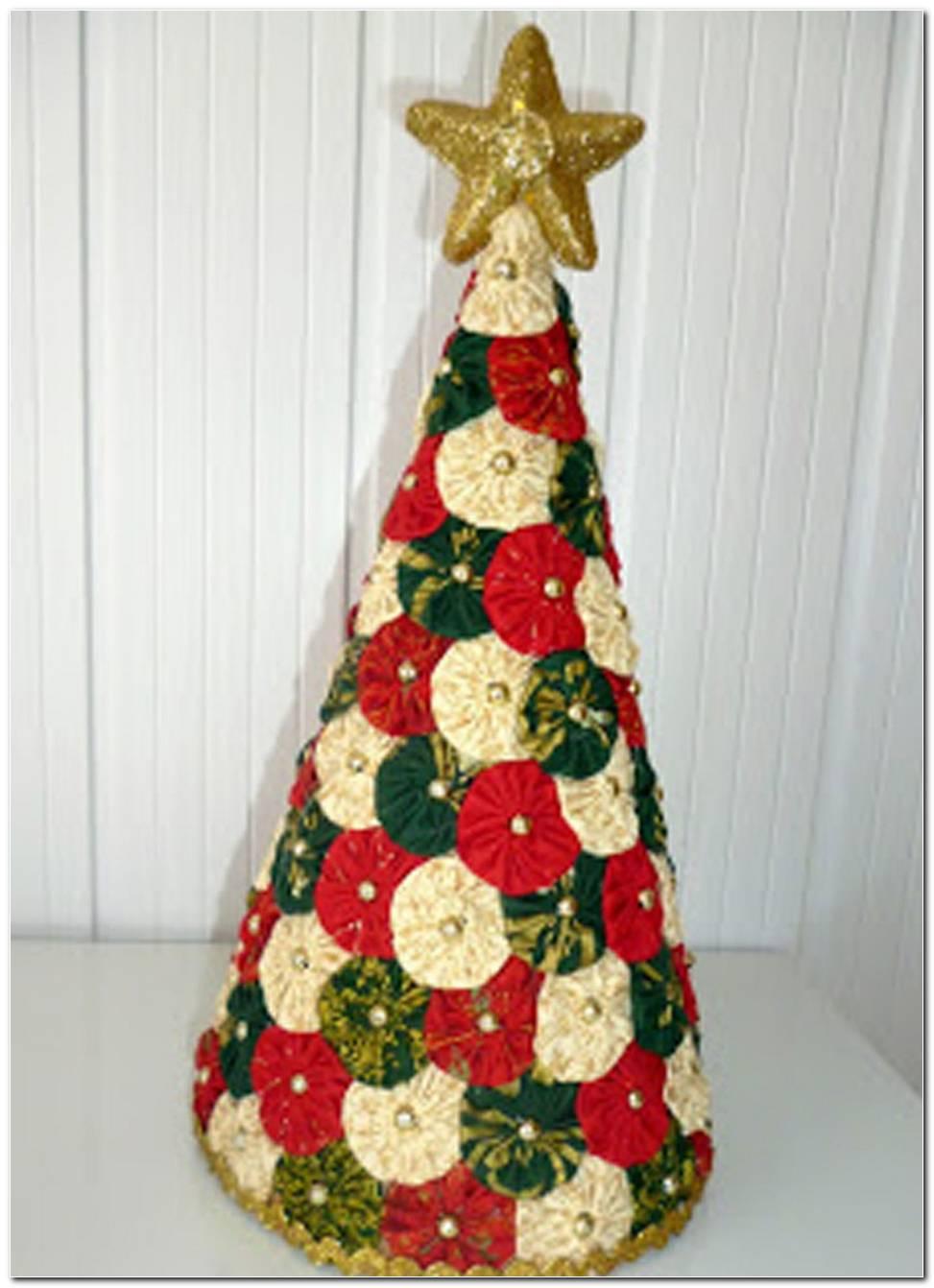 Árvores De Natal De Fuxico