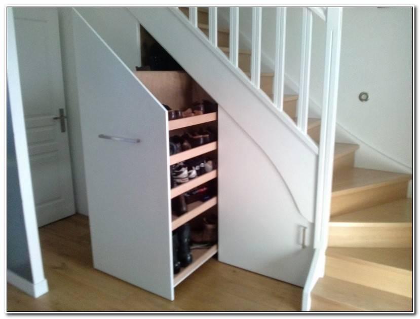 ÉLéGant éTagèRe Sous Escalier