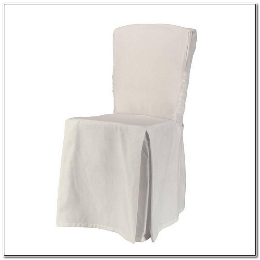 ÉLéGant Housse De Chaise Blanche