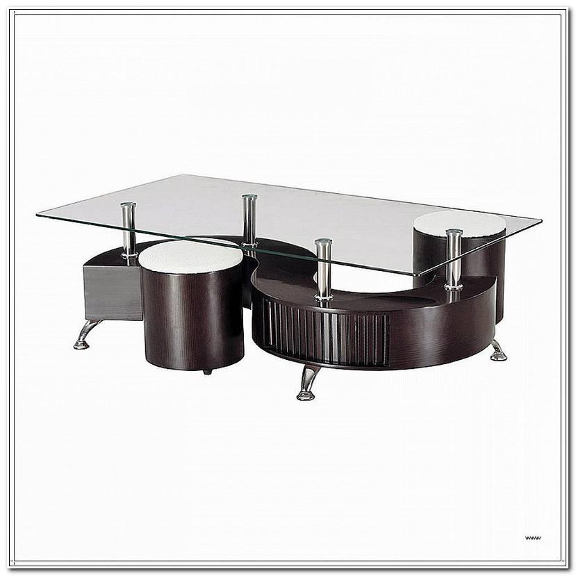 ÉLéGant Table Basse Avec Pouf