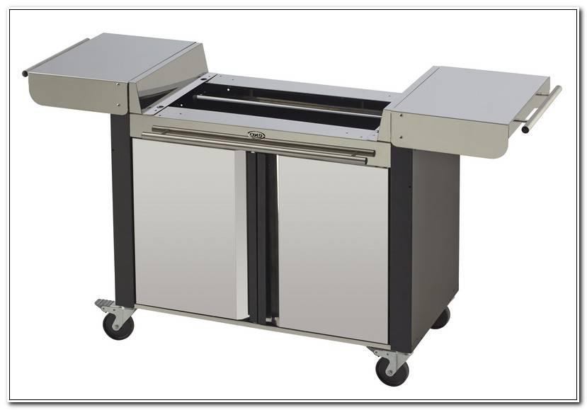 ÉLéGant Table Roulante Pour Plancha