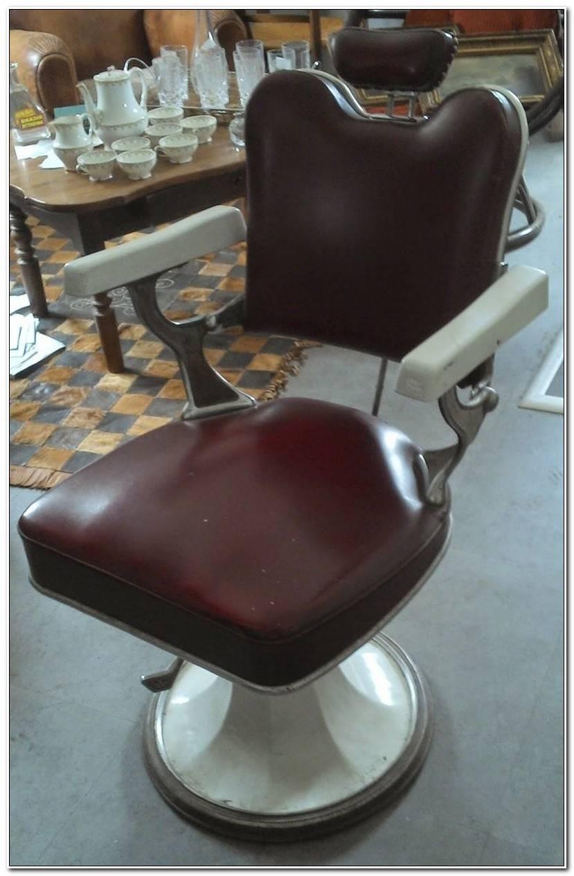 Élégant Fauteuil Barbier Vintage