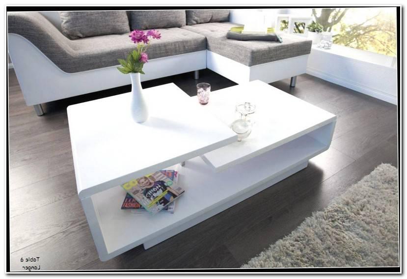 Élégant Table Basse Blanc Laqué
