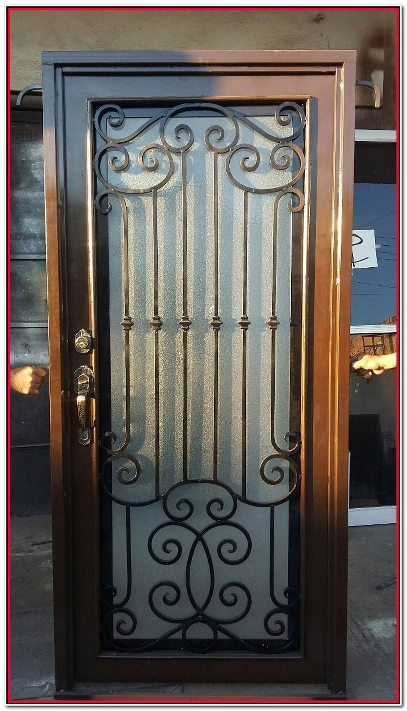 Único Puertas De Metal Imagen De Puertas Decoración
