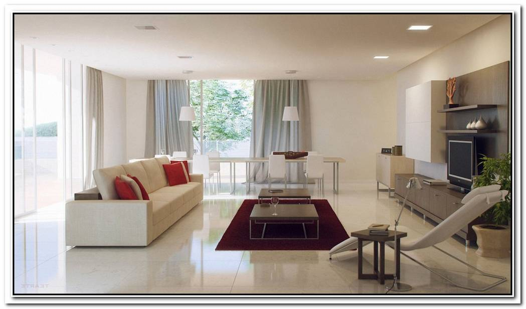 10 Red And White Living Rooms