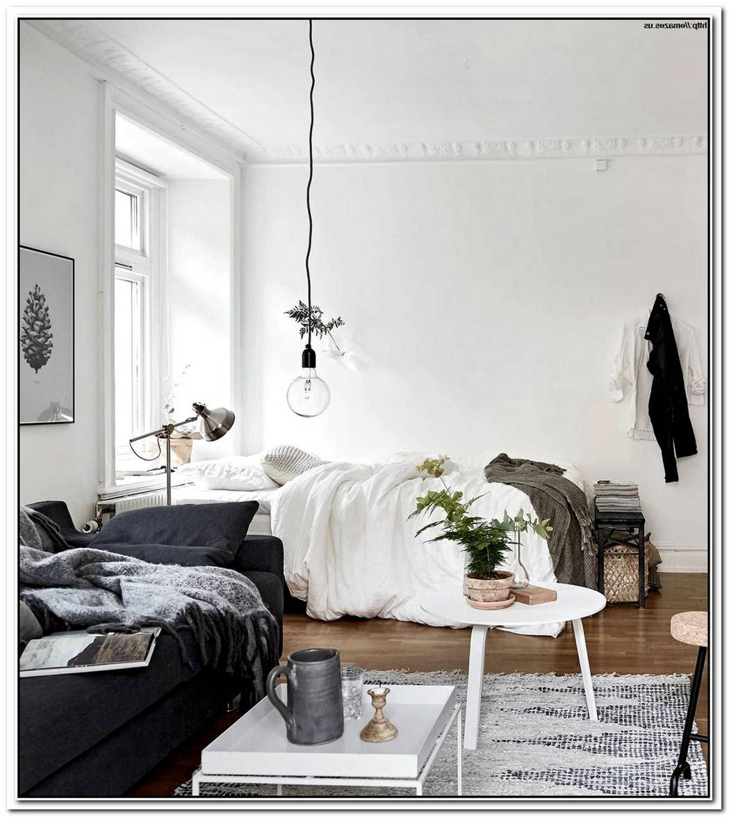 10 Small One Room Apartments Featuring A Scandinavian D%C3%A9cor