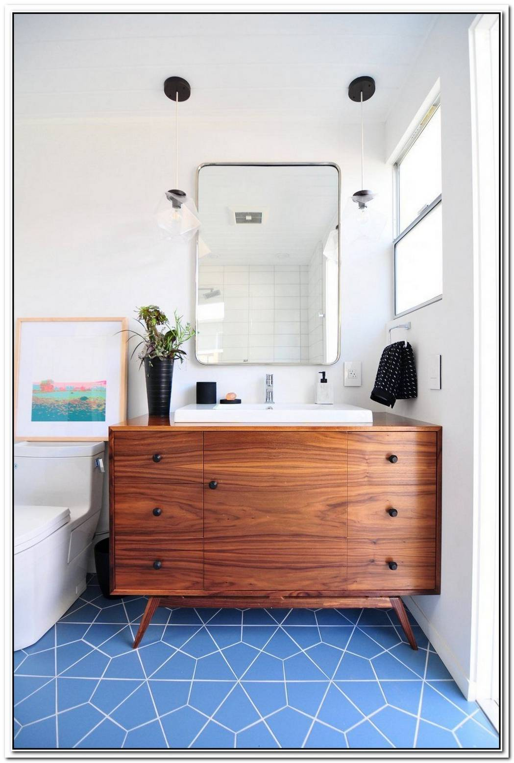 14 Midcentury Modern Bathroom Tile Ideas