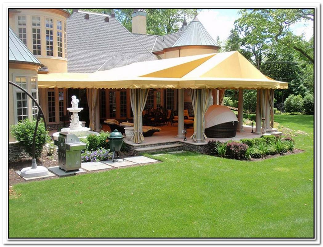 20 Different Ways To Style Your Backyard With An Outdoor Canopy