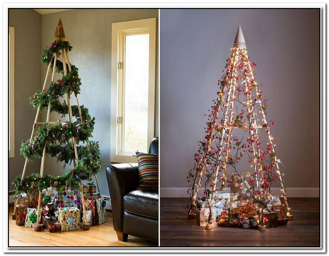 21 Cool Christmas Tree Alternatives Including Trendy Decorated Pineapples