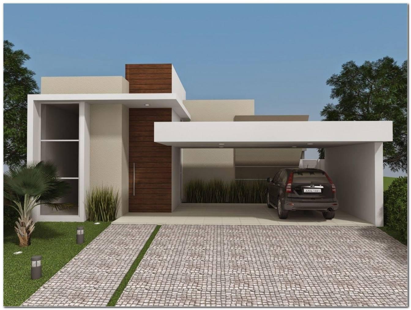 40 Casas Com Telhado Embutido