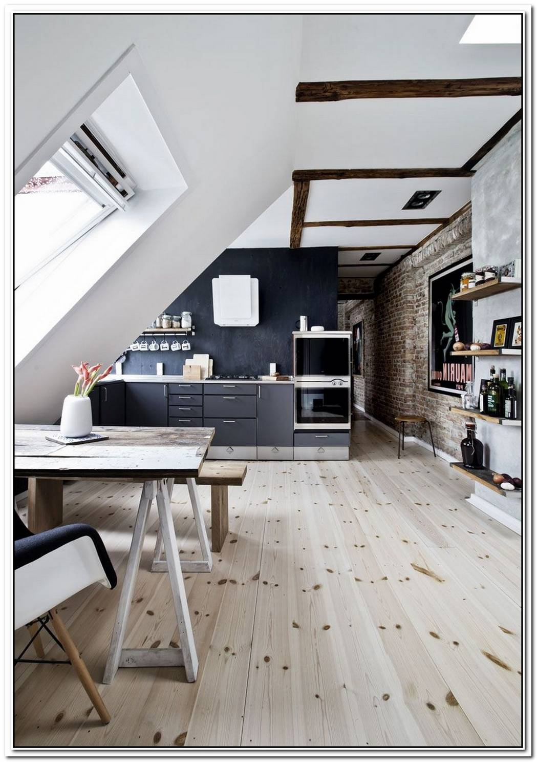 A 55 Sqm Attic Apartment With A Fresh Scandinavian Interior