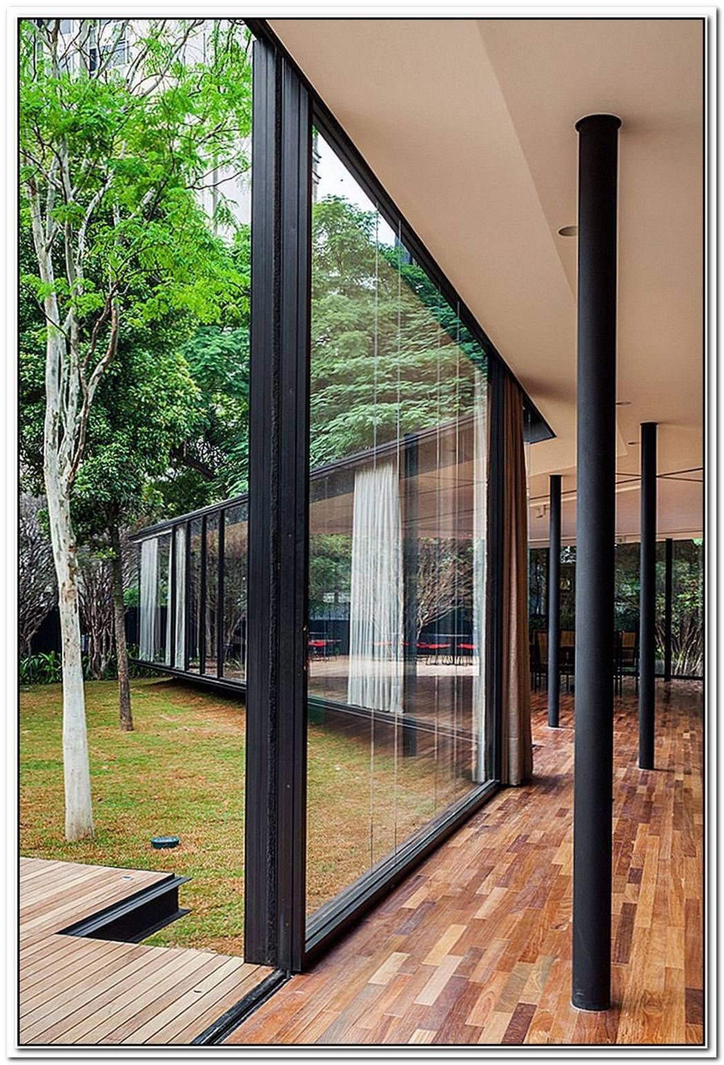 A Beautiful Garden Pavilion Wrapped In Glass