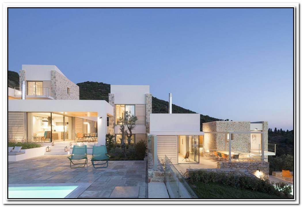 A Contemporary Trio Residence In Greece