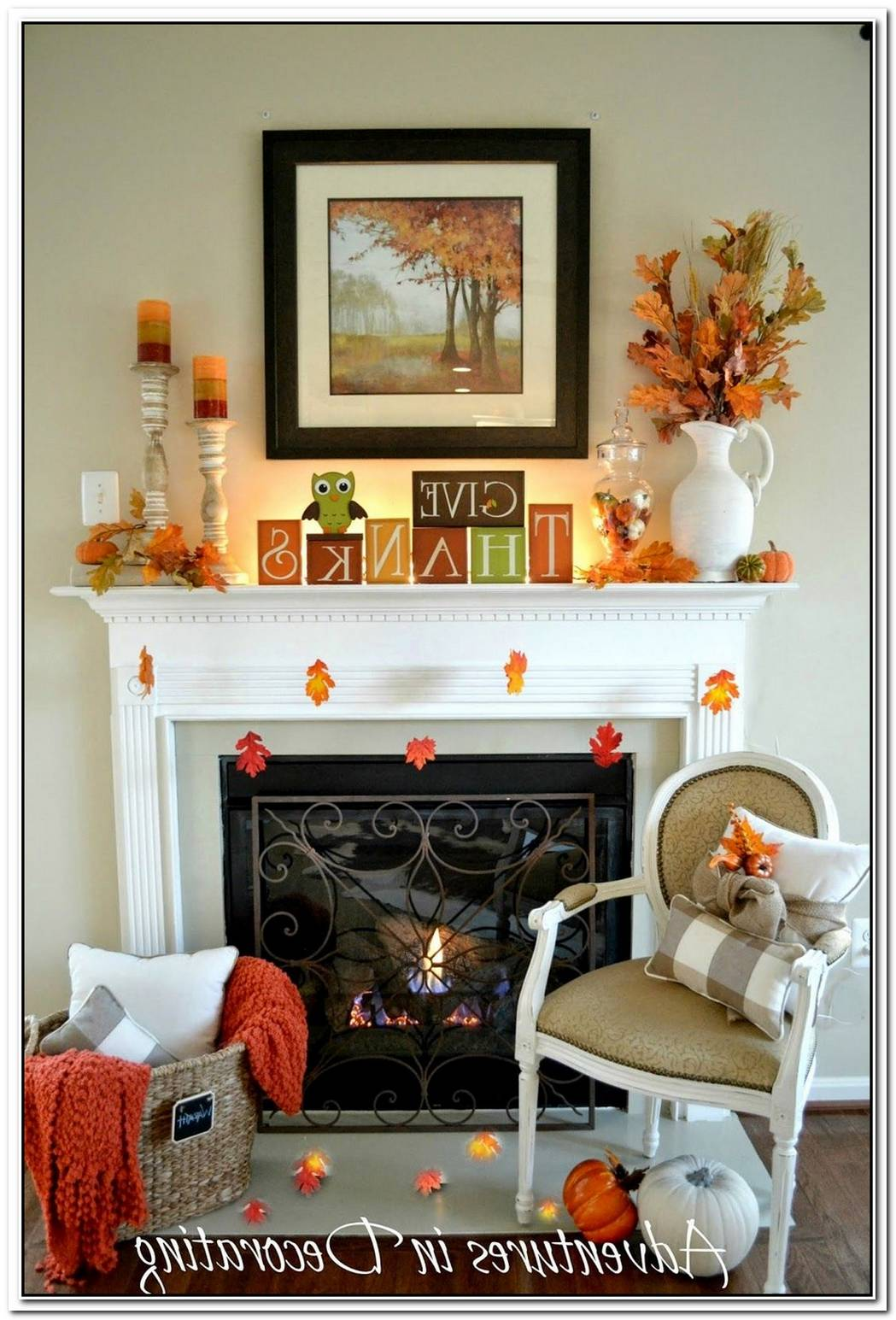 A Fall D%C3%A9cor For Your Fake Mantel