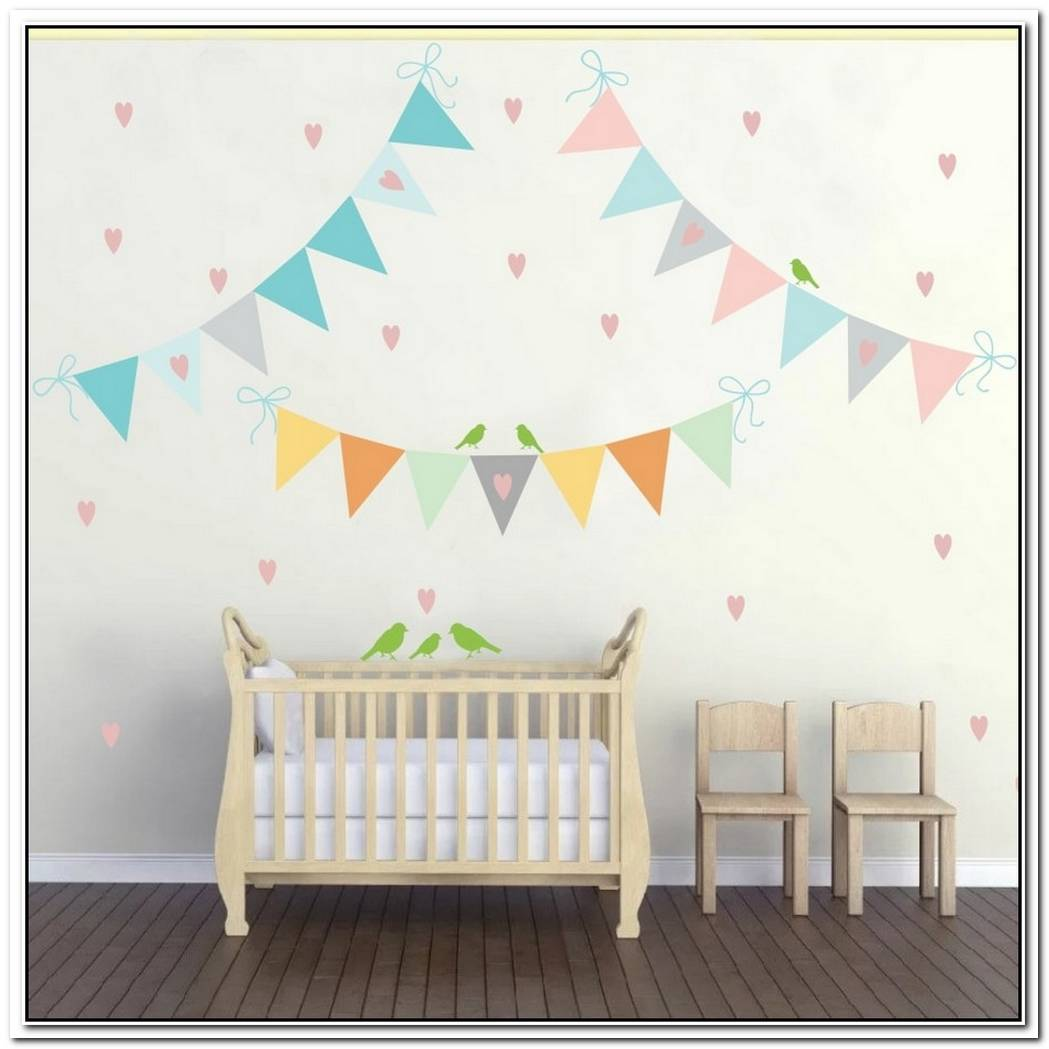 A Selection Of Colorful Wall Stickers For The Nursery Room